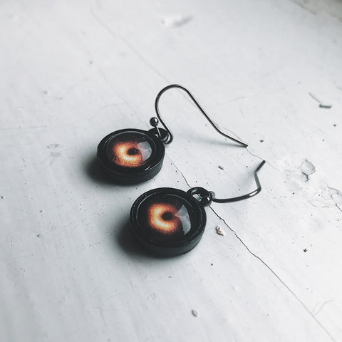 M87 Black Hole Jewelry - Black Hole Earrings, Outer Space, Space Exploration STEM jewelry by Yugen Tribe