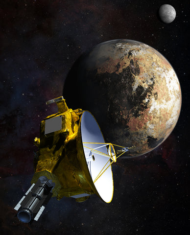 Artist Interpretation of New Horizons Probe Pluto FlyBy - Credit NASA/JHU APL/SwRI/Steve Gribben