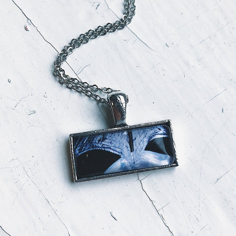 LightSail 2 Rectangular Simple Silver Pendant Necklace by Yugen Tribe for The Planetary Society