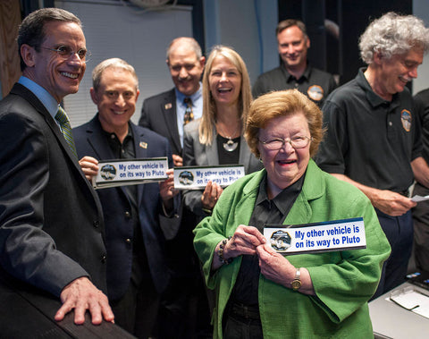 Democratic Maryland Senator Barbara Mikulski at New Horizons Pluto Fly By - Image Credit NASA