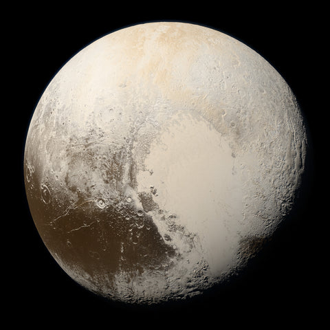 Color photo of Pluto, Credit NASA