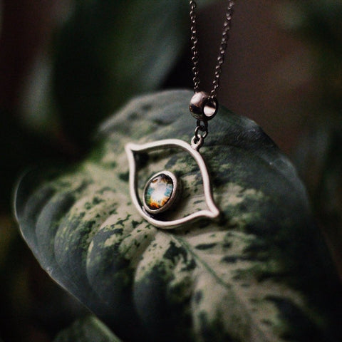 Eye of God, Evil Eye Necklace with Galaxy Image by Yugen Tribe - Celestial Cosmic Jewelry