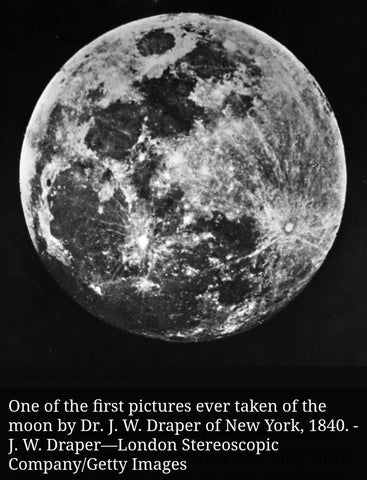 Photograph of the Moon by John Draper 1840 on Yugen Tribe