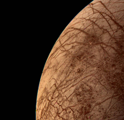 Europa Moon photo by Voyager 2 Probe