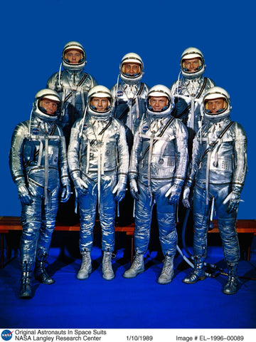 Mercury 7 Astronaut team, photo credit NASA