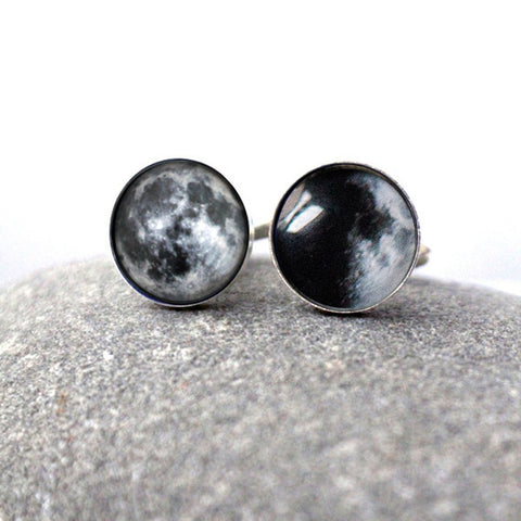 Custom moon date cuff links - My moon accessories by Yugen Tribe, Gifts for Fathers Day