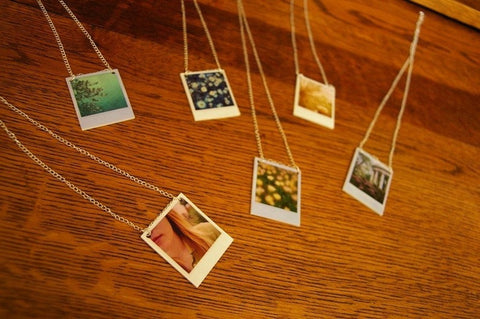 Polaroid jewelry by Lauren Beacham