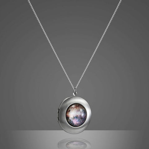 Omega Nebula Locket - Handcrafted Cosmic Jewelry by Yugen Tribe, Galaxy Necklace