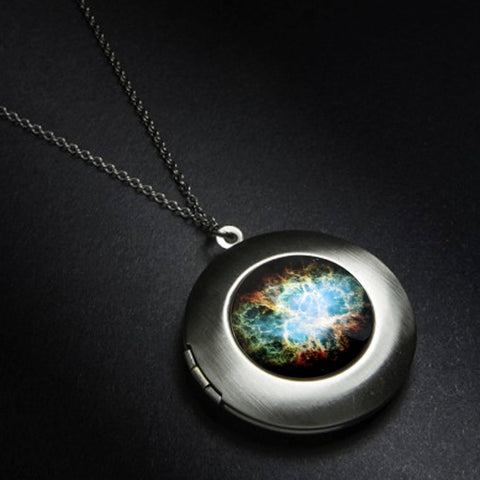 Crab Nebula Outer Space Locket by Yugen Tribe