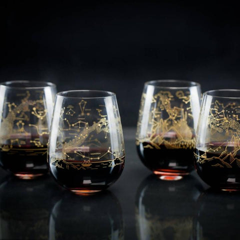 Constellation Star Map Wine Glasses at yugentribe.com