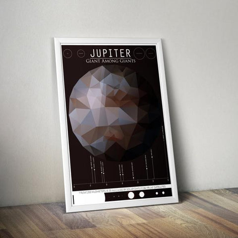 Jupiter Infographic Print at YugenTribe.com - Tribe Treasures Galaxy Collection