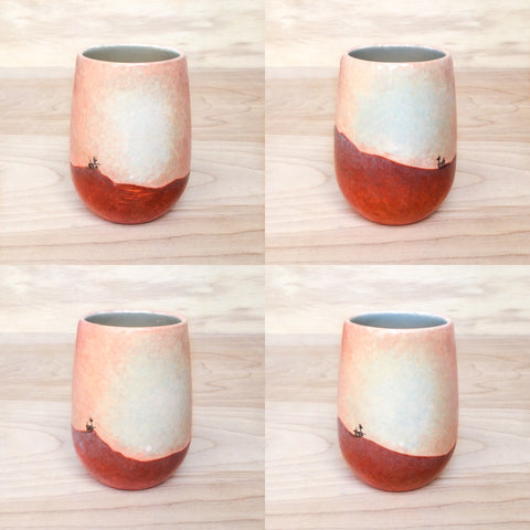 Oppy Opportunity Mars Rover Custom Handpainted Ceramic Wine Cup Glass