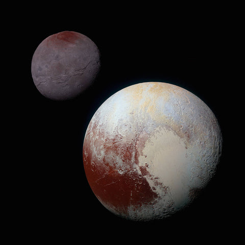 New Horizons Image of Pluto and Charon - Image Credit NASA