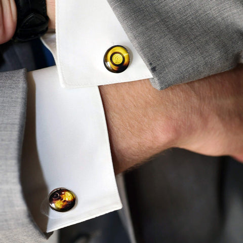 Voyager Probe Gold Record Cufflinks - Voyager NASA Carl Sagan Ann Druyan Golden Record Sounds of Earth Cuff Links by Yugen Tribe