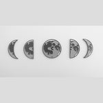Moon Phases Enamel Pin Set of 5