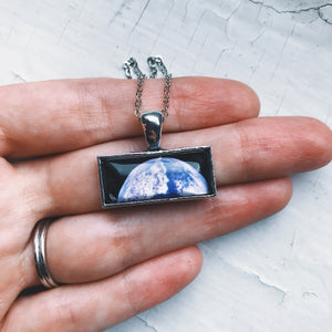 Planetary Society LightSail Rectangle Necklace - Earth - Yugen Tribe