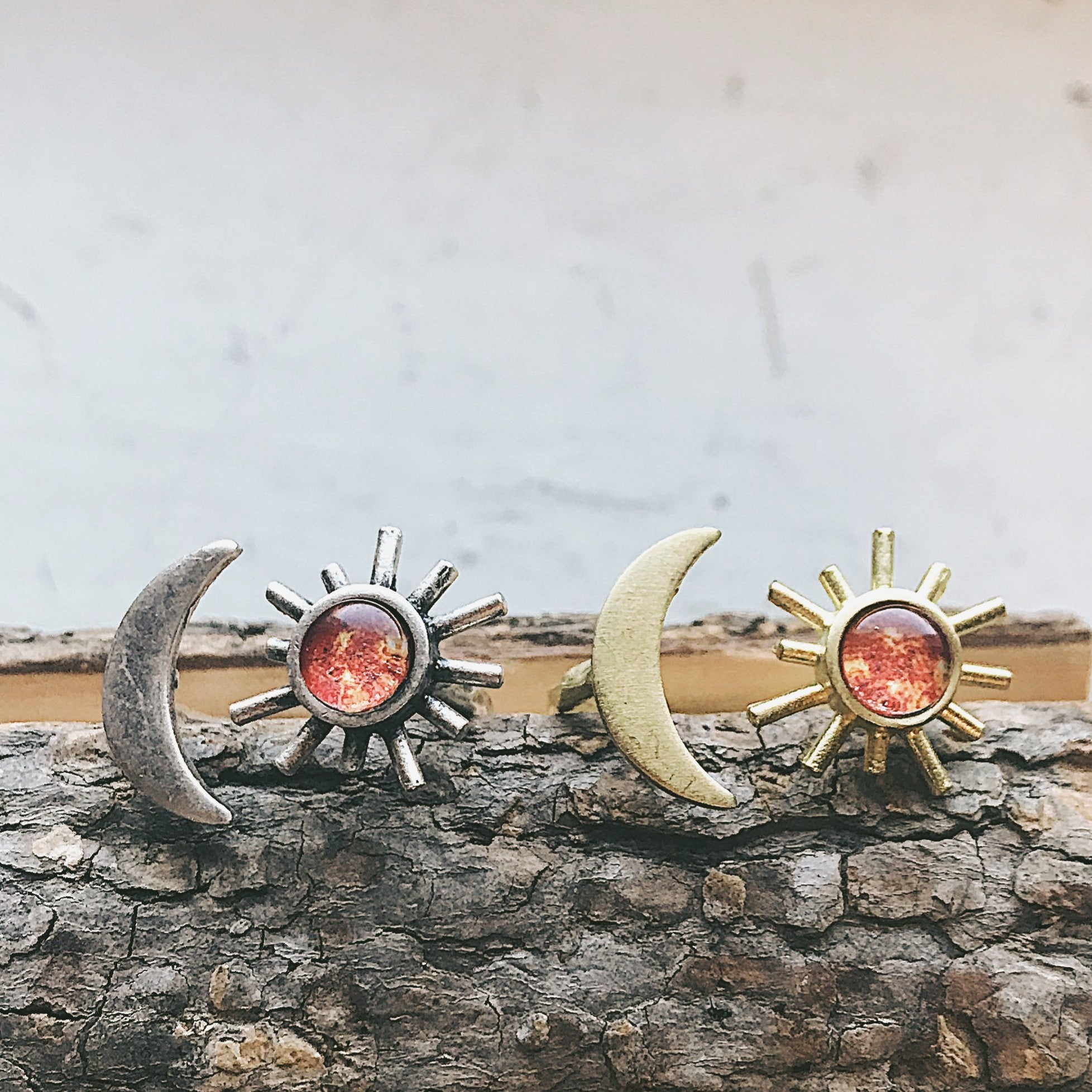 Sun and Moon Sculptural Statement Ring - Yugen Tribe