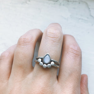 Moondrop Moonstone Ring - Yugen Tribe
