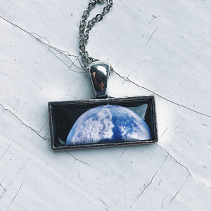 Planetary Society LightSail Rectangle Necklace - Earth