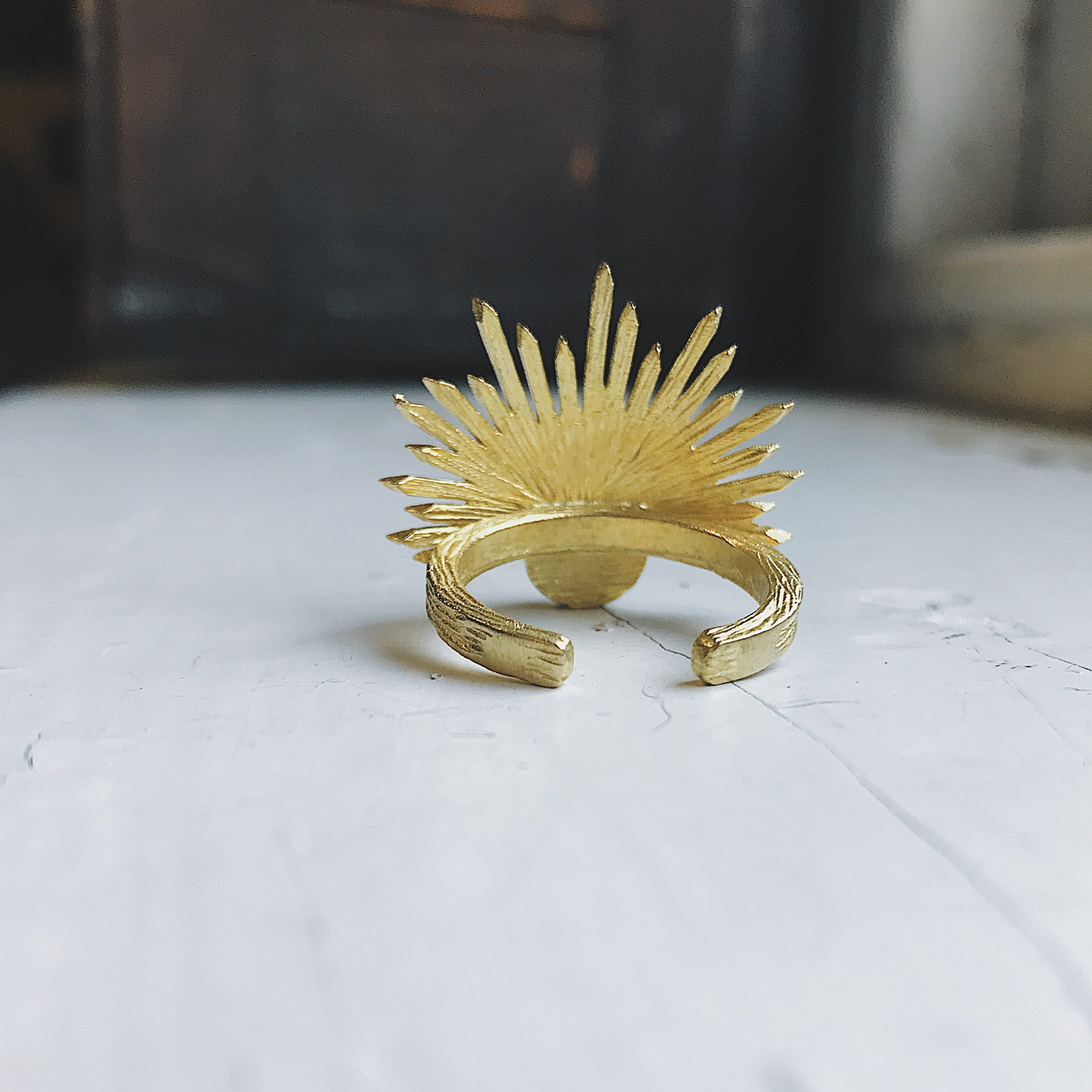 Sun Goddess Ring with Copper Oyster Turquoise - Yugen Tribe