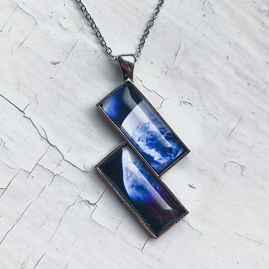 Planetary Society LightSail 2 Image Rectangle Earth Necklace - Yugen Tribe