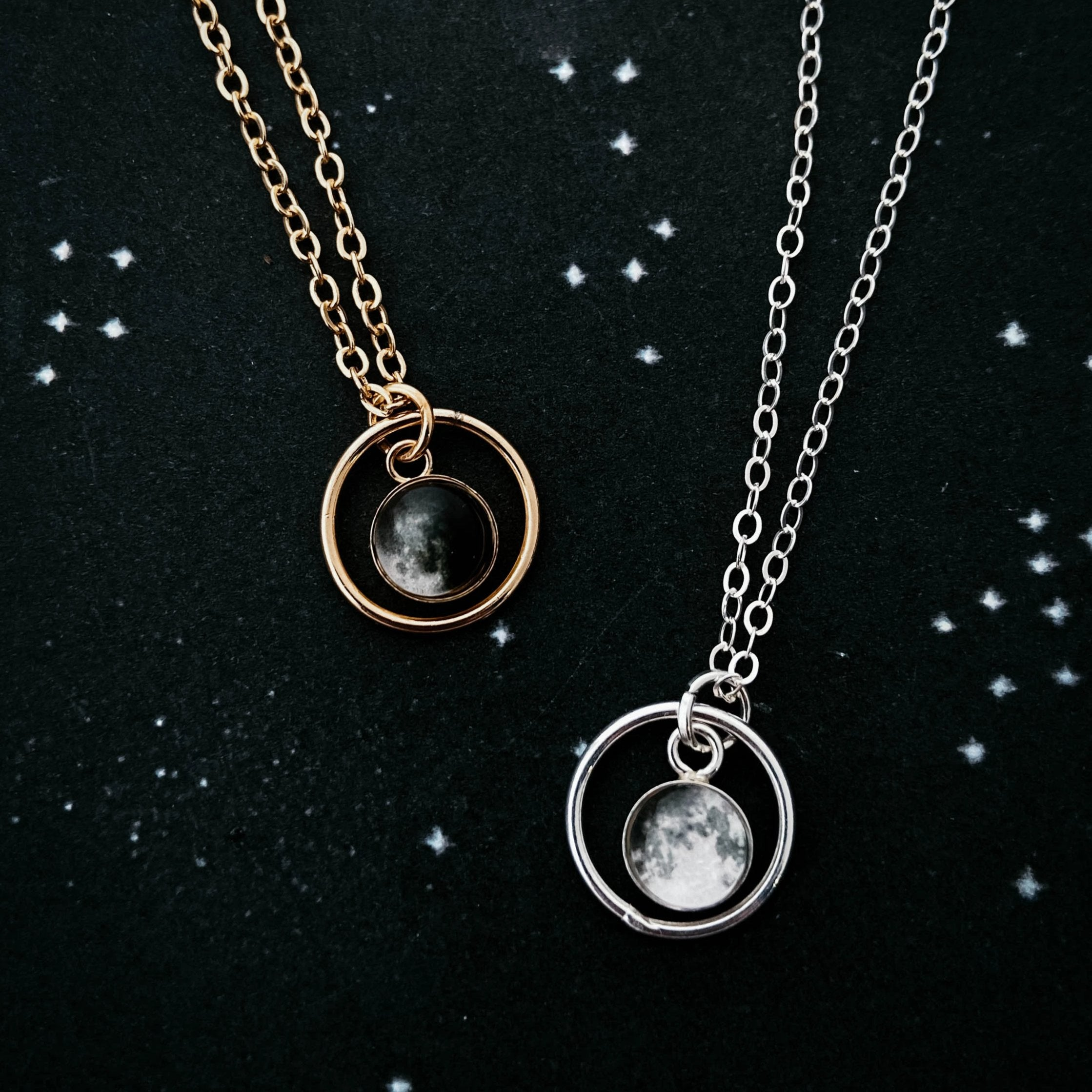My Moon Mini Halo Necklace - Yugen Tribe