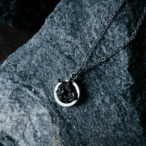 Authentic meteorite pendant, organic weird looking space jewelry by Yugen