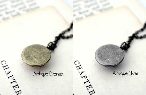 Pluto and Charon Layered Space Necklace