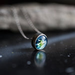Slide pendant with your choice of cosmic image - Choose your planet, galaxy, nebula, sun, moon - Handmade jewelry by Yugen Tribe inspired by the universe and astronomy
