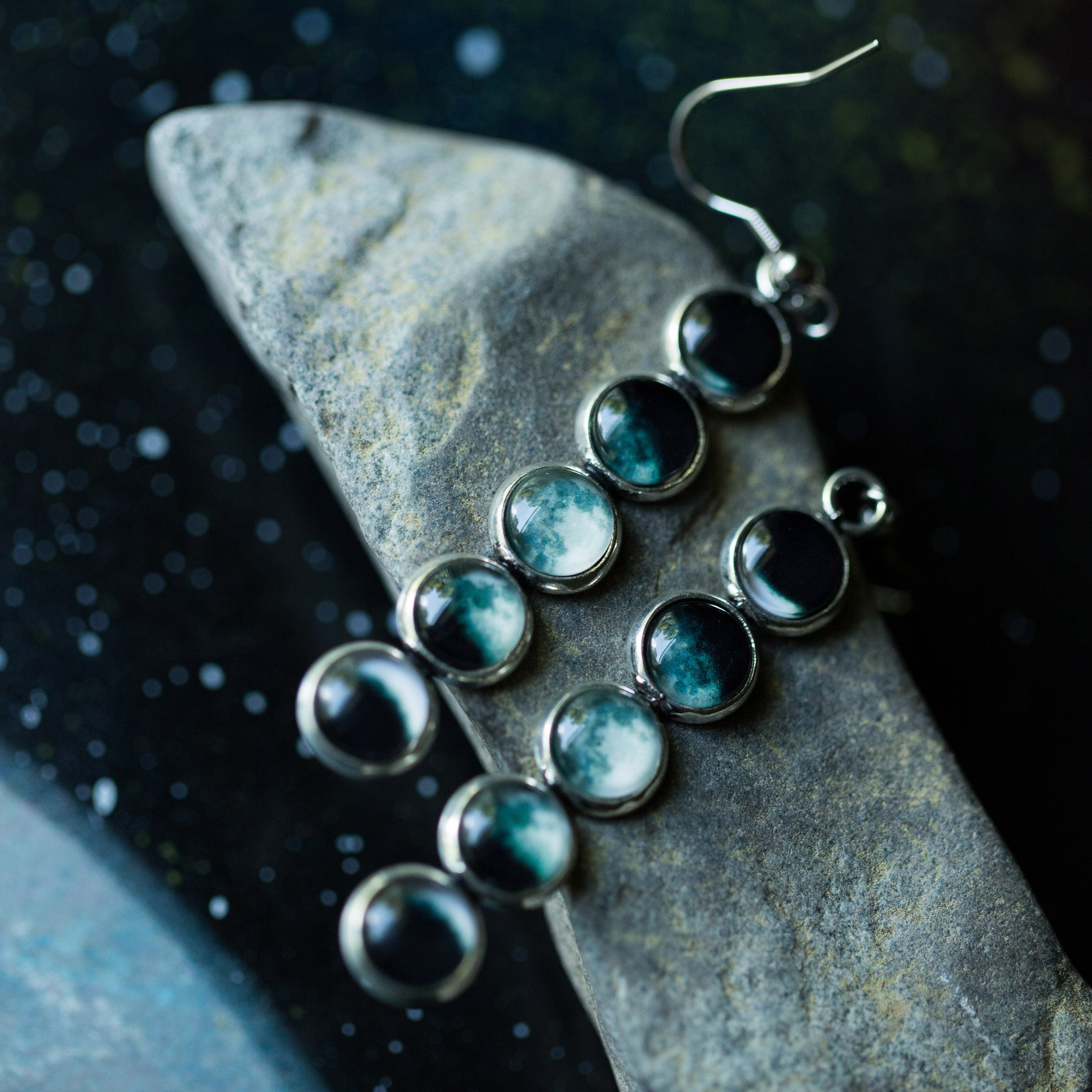 Moon Phase Earrings - Yugen Tribe