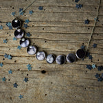 Curved Moon Phase Necklace in Silver - Yugen Tribe