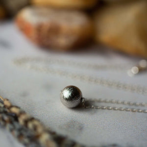 Simple Gibeon Meteorite Necklace - Yugen Tribe