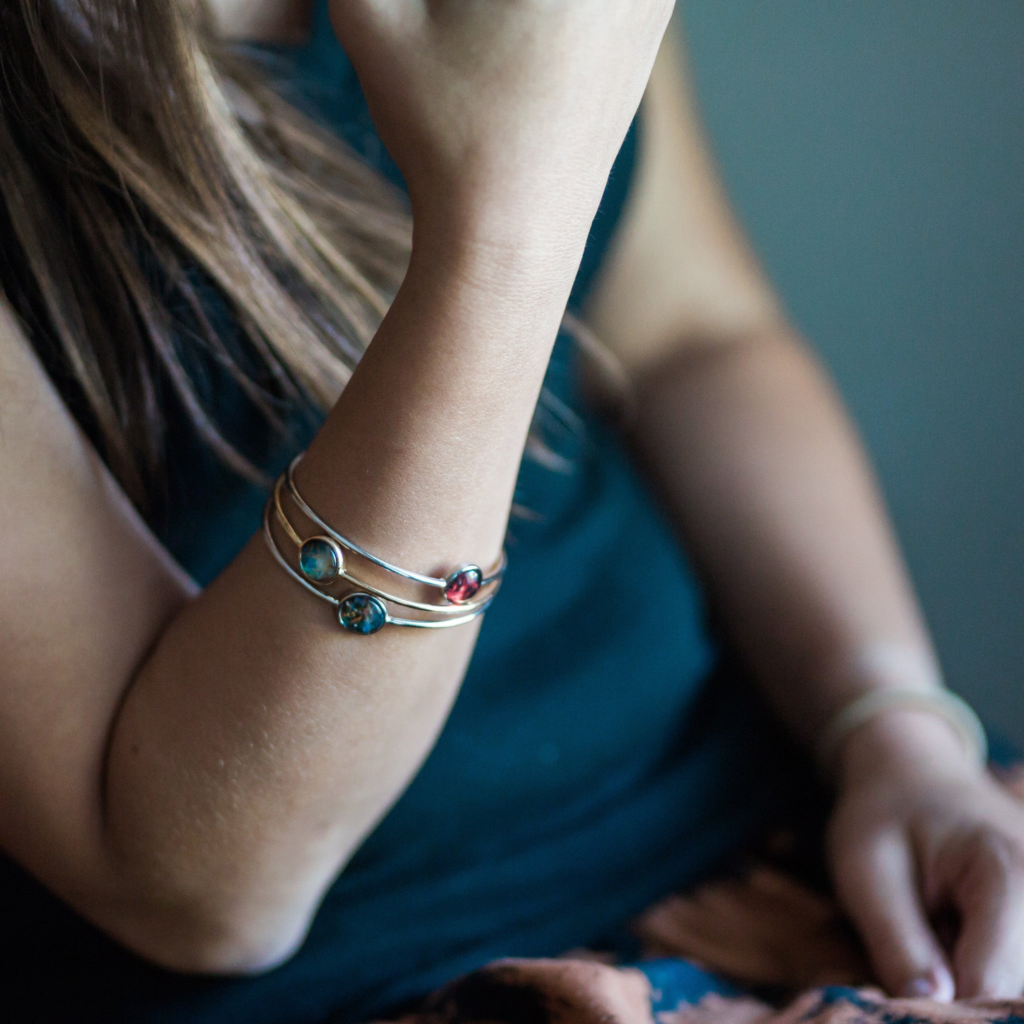 Galaxy Stackable Bangle in Gold or Silver - Yugen Tribe