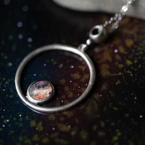 Silver Galaxy Circle Necklace - Yugen Tribe