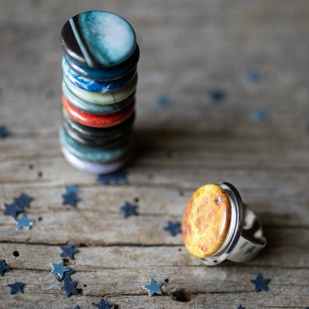 Interchangeable Solar System Ring - Yugen Tribe