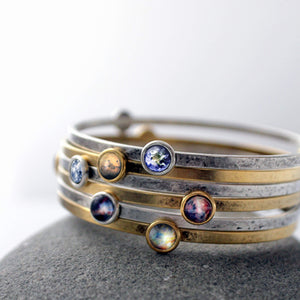 Galaxy Bangle Bracelet - You Choose 3 Space Designs - Yugen Tribe
