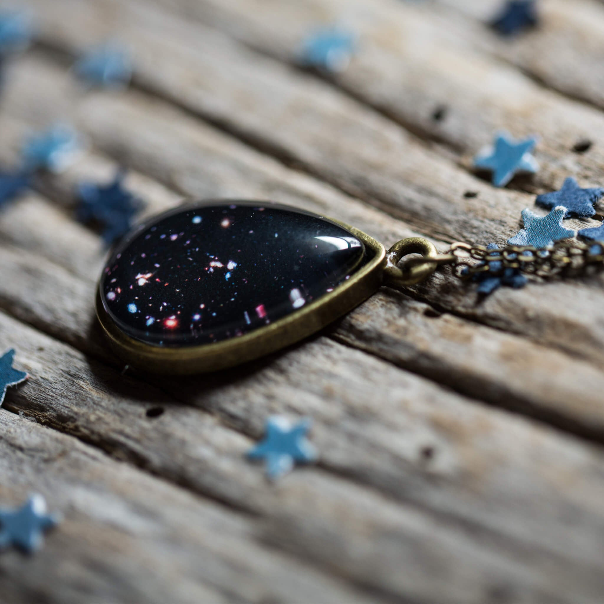Drops in Cosmic Ocean Pendant - Teardrop Necklace - Yugen Tribe