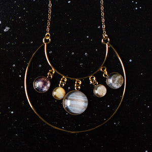 Galilean Moons of Jupiter Statement Necklace - Yugen Tribe