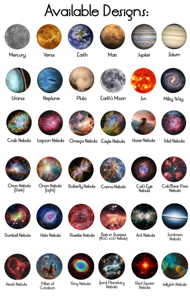 Space Necklace - Pick Your Planet or Nebula Slide Galaxy Pendant