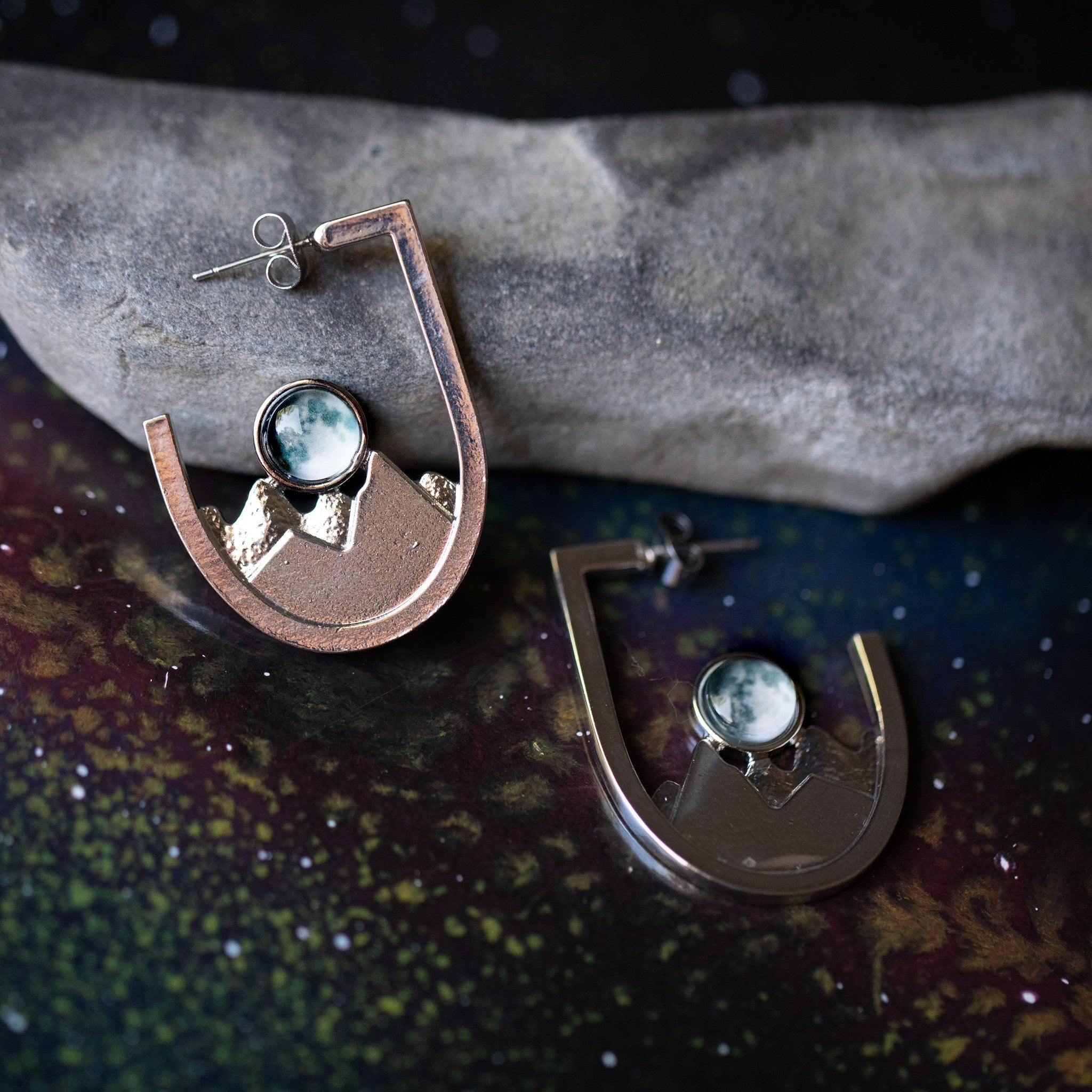 Galaxy Mountain Range Earrings - Yugen Tribe