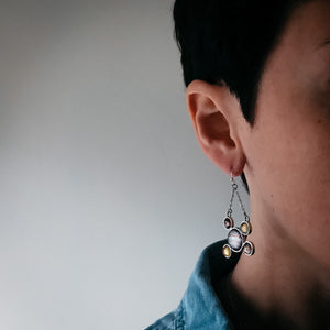 Jupiter and Galilean Moons Dangle Earrings - Yugen Tribe