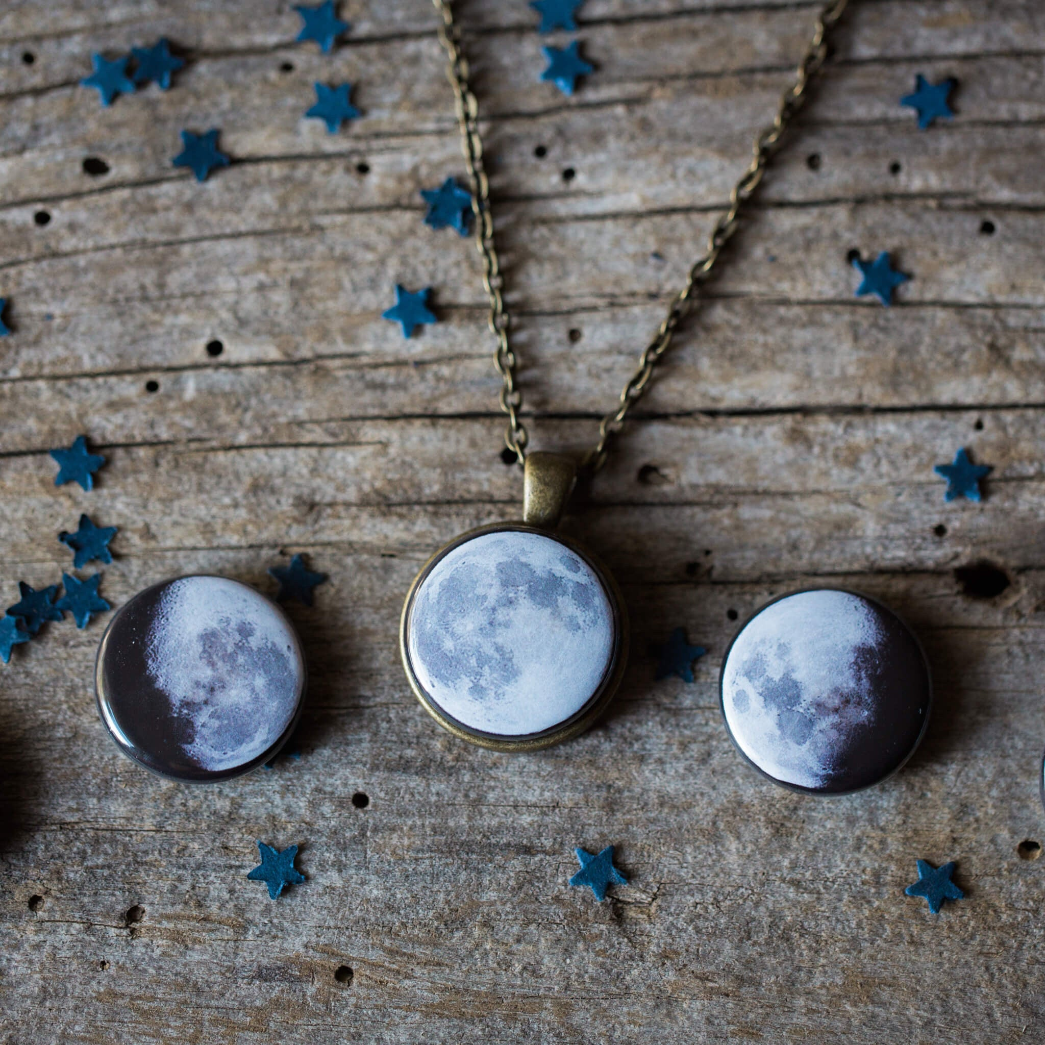 Interchangeable Moon Phase Necklace - Yugen Tribe