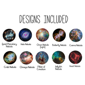 Nebula Images Included in Interchangeable Galaxy Nebulae Necklace
