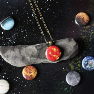 Interchangeable solar system magnet designs for Yugen Tribe jewelry