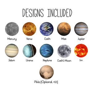Solar system magnet designs included