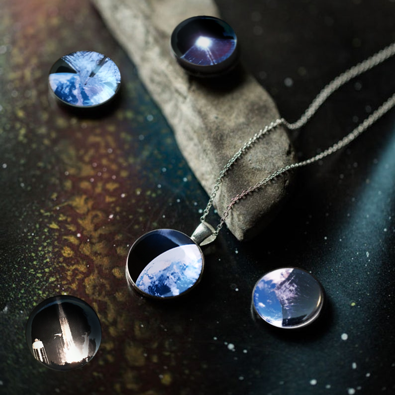 Interchangeable Planetary Society LightSail Necklace - Yugen Tribe