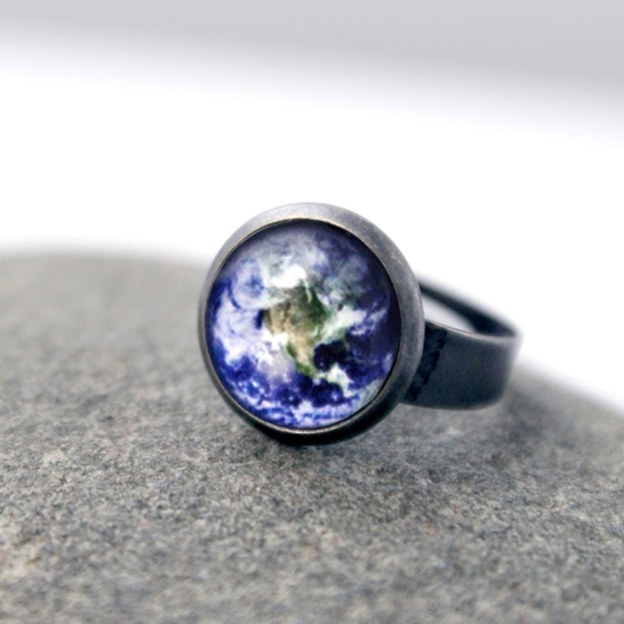 Simple Adjustable Galaxy Space Ring - Yugen Tribe