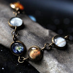 Solar System Tennis Bracelet - Unique Handmade STEM Fashion Jewelry with Planets by Yugen Tribe