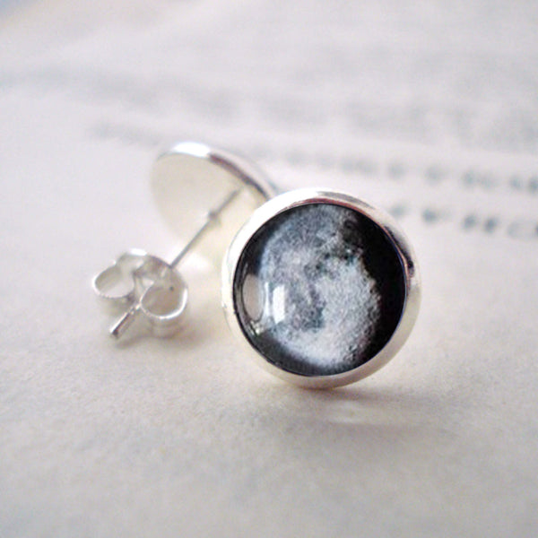 Birth Moon Small Stud Earrings