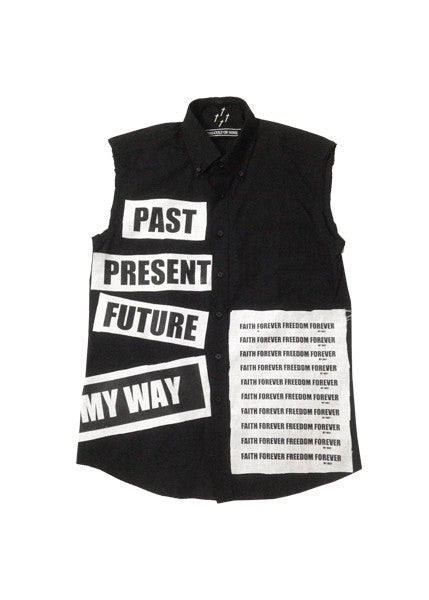 MY WAY PATCHED SHIRT — BLK